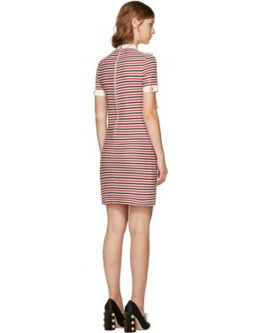 photo Tricolor Striped Bow Dress by Gucci - Image 3
