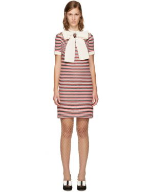 photo Tricolor Striped Bow Dress by Gucci - Image 1