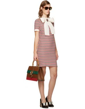 photo Tricolor Striped Bow Dress by Gucci - Image 4