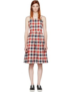 photo Red Check Riviera Dress by Visvim - Image 1