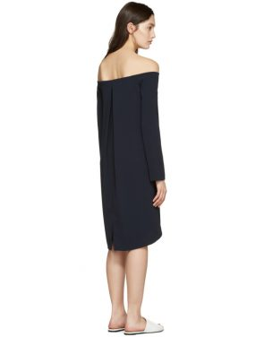 photo Navy Off-the-Shoulder Dress by Atea Oceanie - Image 3