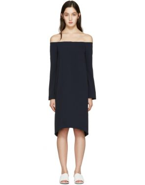 photo Navy Off-the-Shoulder Dress by Atea Oceanie - Image 1