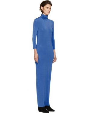 photo Blue Underpinnings Turtleneck Dress by Kwaidan Editions - Image 2