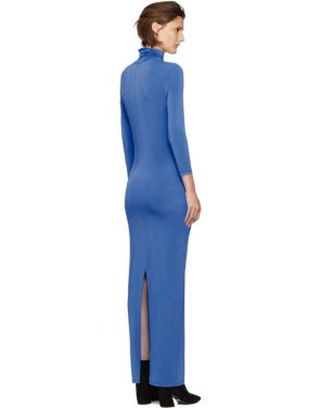 photo Blue Underpinnings Turtleneck Dress by Kwaidan Editions - Image 3