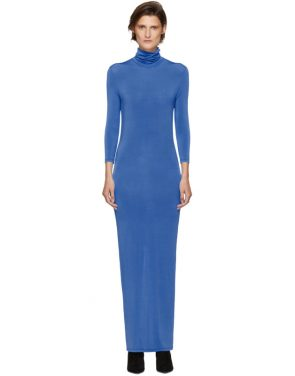 photo Blue Underpinnings Turtleneck Dress by Kwaidan Editions - Image 1