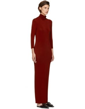 photo Red Underpinnings Turtleneck Dress by Kwaidan Editions - Image 2