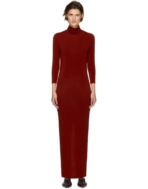 photo Red Underpinnings Turtleneck Dress by Kwaidan Editions - Image 1