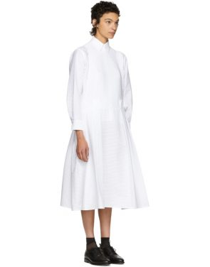photo White Pleated Apron Dress by Roberts | Wood - Image 2