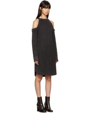 photo Black Dana Cold Shoulder Dress by Rag and Bone - Image 2