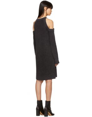 photo Black Dana Cold Shoulder Dress by Rag and Bone - Image 3