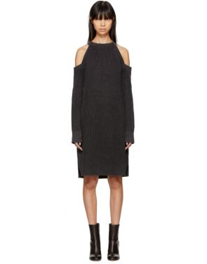 photo Black Dana Cold Shoulder Dress by Rag and Bone - Image 1