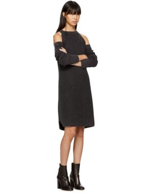 photo Black Dana Cold Shoulder Dress by Rag and Bone - Image 4