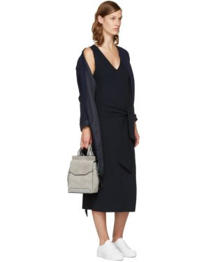 photo Navy Michelle Sweater Dress by Rag and Bone - Image 4