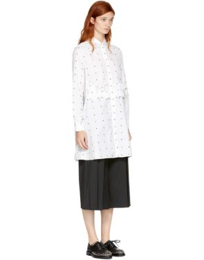 photo White Swallow Shirt Dress by McQ Alexander McQueen - Image 2