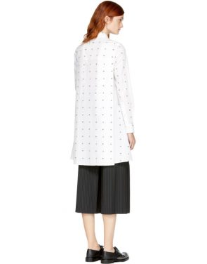 photo White Swallow Shirt Dress by McQ Alexander McQueen - Image 3