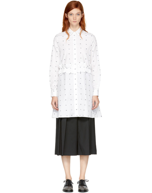 photo White Swallow Shirt Dress by McQ Alexander McQueen - Image 1