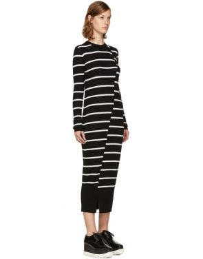 photo Black Distort Stripe Dress by McQ Alexander McQueen - Image 2