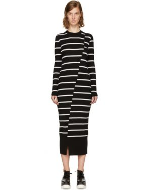 photo Black Distort Stripe Dress by McQ Alexander McQueen - Image 1