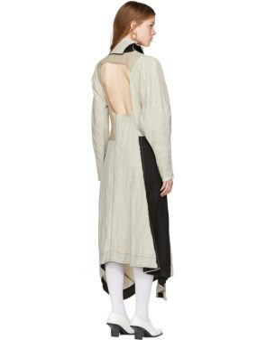 photo Beige Dragica Slub Dress by Acne Studios - Image 3