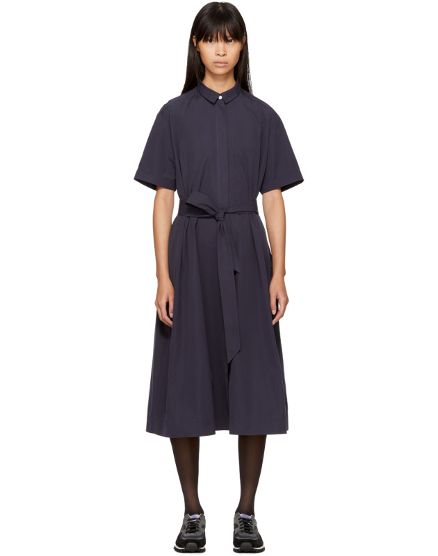 photo Navy Joan Dress by YMC - Image 1