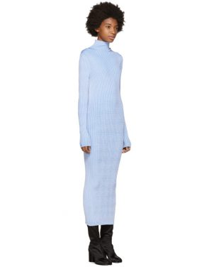 photo Blue Thin Rib Dress by Maison Margiela - Image 2