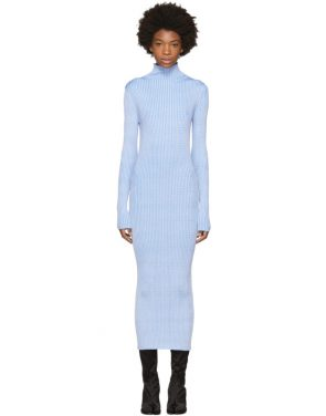 photo Blue Thin Rib Dress by Maison Margiela - Image 1