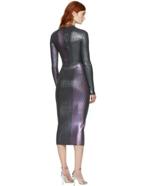 photo Multicolor Long Foil Dress by Christopher Kane - Image 3