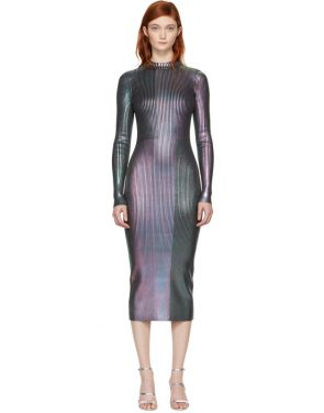 photo Multicolor Long Foil Dress by Christopher Kane - Image 1