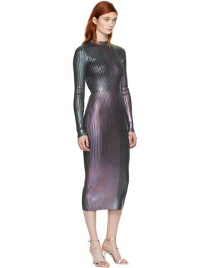 photo Multicolor Long Foil Dress by Christopher Kane - Image 4