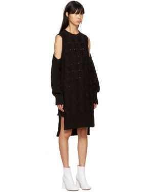 photo Black Gauge 5 Sweater Dress by MM6 Maison Martin Margiela - Image 2