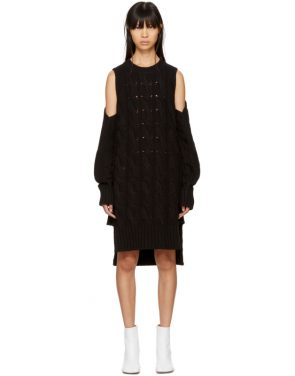 photo Black Gauge 5 Sweater Dress by MM6 Maison Martin Margiela - Image 1