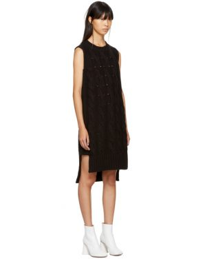 photo Black Gauge 5 Sweater Dress by MM6 Maison Martin Margiela - Image 4