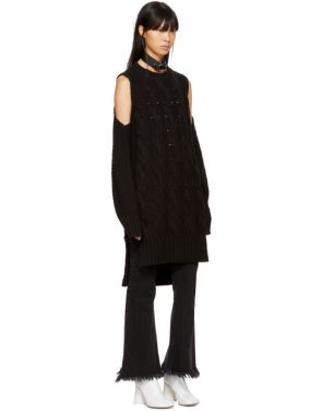 photo Black Gauge 5 Sweater Dress by MM6 Maison Martin Margiela - Image 5