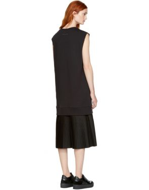photo Black Sleeveless Basic Sweatshirt Dress by MM6 Maison Martin Margiela - Image 3