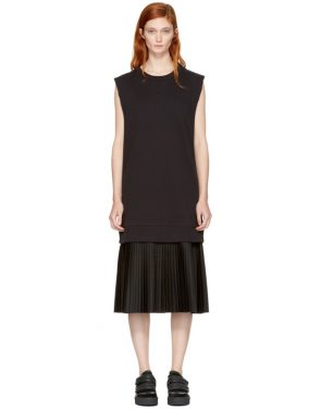 photo Black Sleeveless Basic Sweatshirt Dress by MM6 Maison Martin Margiela - Image 1