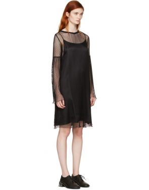 photo Black Mesh Dress by MM6 Maison Martin Margiela - Image 2