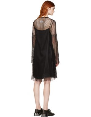 photo Black Mesh Dress by MM6 Maison Martin Margiela - Image 3