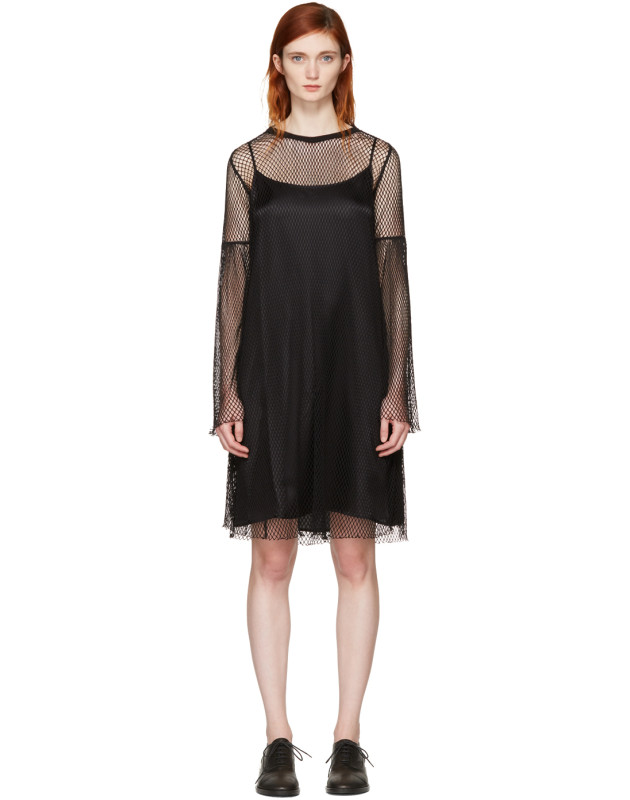 photo Black Mesh Dress by MM6 Maison Martin Margiela - Image 1