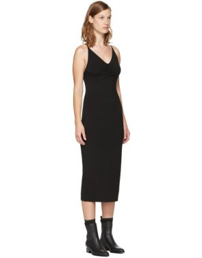 photo Black Shirred Cami Dress by T by Alexander Wang - Image 2