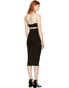 photo Black Strappy Cami Tank Dress by T by Alexander Wang - Image 3