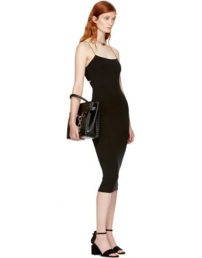 photo Black Strappy Cami Tank Dress by T by Alexander Wang - Image 4