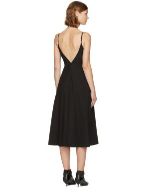 photo Black Keyhole V-Neck Dress by T by Alexander Wang - Image 3