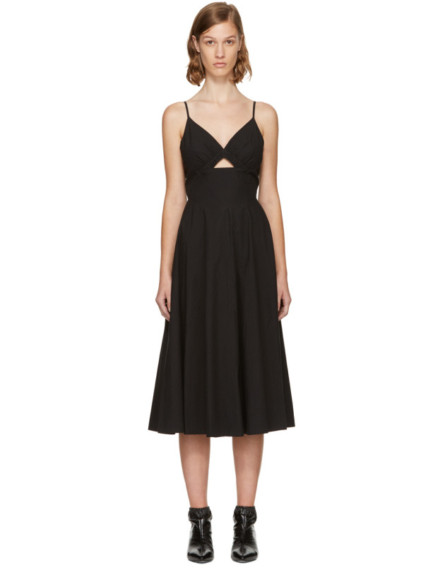 photo Black Keyhole V-Neck Dress by T by Alexander Wang - Image 1