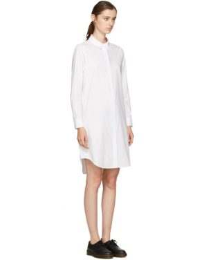 photo White Zip Shirt Dress by T by Alexander Wang - Image 2