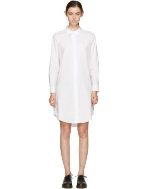 photo White Zip Shirt Dress by T by Alexander Wang - Image 1