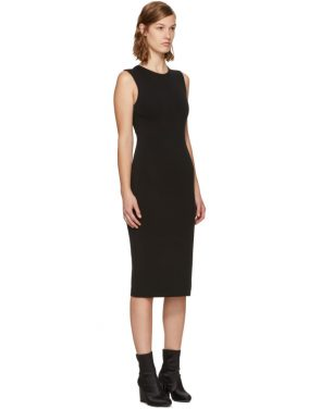 photo Black Faille Ponte Dress by T by Alexander Wang - Image 2