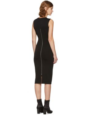photo Black Faille Ponte Dress by T by Alexander Wang - Image 3