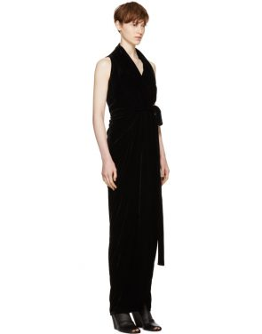 photo Black Velvet Limo Dress by Rick Owens - Image 2