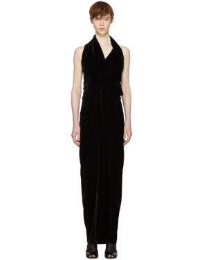 photo Black Velvet Limo Dress by Rick Owens - Image 1