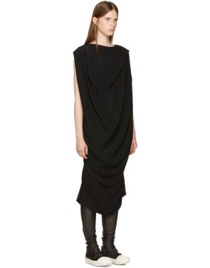photo Black Nouveau Dress by Rick Owens - Image 2